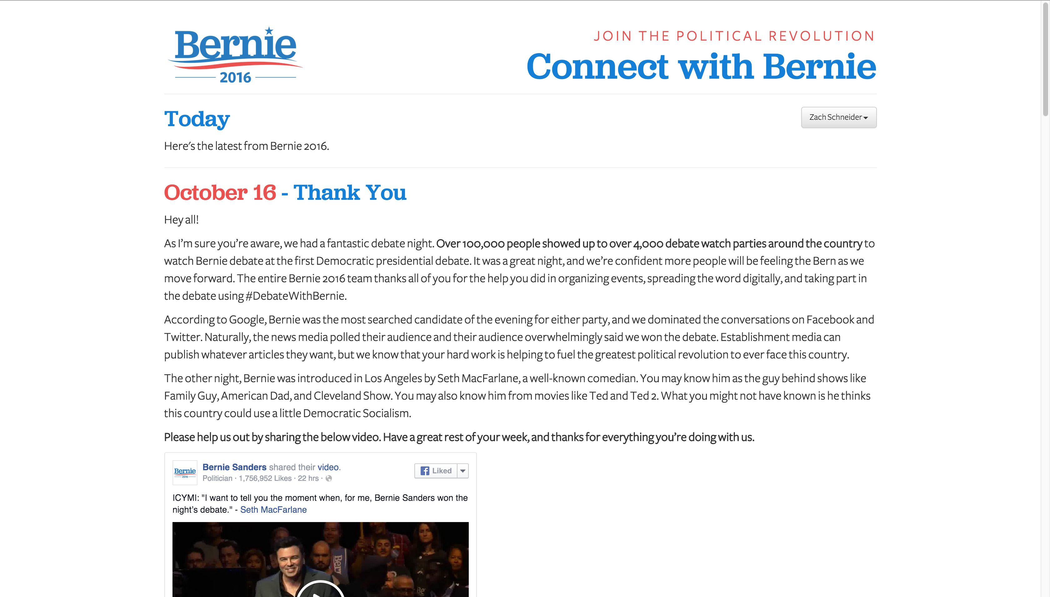 Connect with Bernie